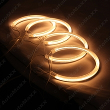 4Pcs/set Yellow Car Optional Headlight CCFL Angel Eyes Halo Rings Kits For Lada Vaz2106 #FD-1272