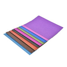 10 Sheets colorful glitter paper decoration modern style eco-friendly high quality 21x29.7cm A4 glitter paper crafts