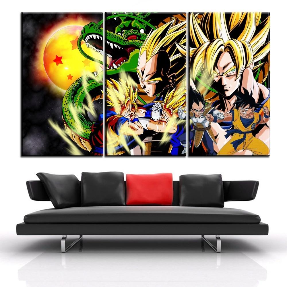 Vegeta and Bulma Custom Poster Print Art Wall Decor Personalized