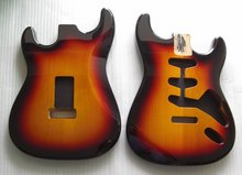 Sell Sunburst  2 piece Alder guitar body SSS high golss finished guitar body