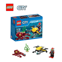 LEGO City Deep Sea Scuba Scooter Architecture Building Blocks Model Kit Plate Educational Toys For Children LEGC60090