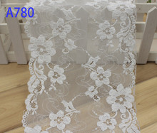 Embroidered Ribbon Guipure Lace Tulle Fabric,Light Cyan 17.5cm Width Flower pattern Trim,New Sewing Material for Cloth Tape.(China)