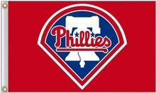 3X5FT Flag MLB Philadelphia Phillies 90x150cm Hot Sale Sports Outdoor Flag Flag Brass Metal Holes Flag Personalized, Free Shippi(China)