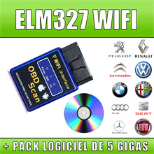 2017 Top Quality New Version Elm327 WIFI Scanner Diagnostic Tool OBD2 Wifi Elm 327 Scanner Wireless Elm327 China Support All IOS