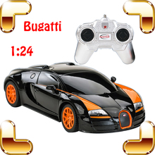 Hotsale 1/24 Bugatti Veyron RC Car King Of Road Model Racing speed Voiture Auto Vehicle with color Box Best Gift Present Toys(China)