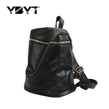 YBYT brand 2017 new fashion casual preppy style women rucksack PU leather package ladies shopping bags students school backpacks