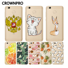 CROWNPRO Case Silicone Xiaomi Redmi 4X Cover Soft TPU Transparent Back Xiaomi Redmi 4X Phone Cases Redmi4X Protector 4 X
