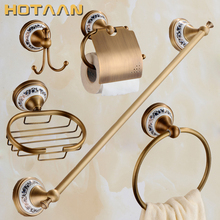 2017 Free shipping,solid brass Bathroom Accessories Set,Robe hook,Paper Holder,Towel Bar,Soap basket,bathroom sets,HT-811500-5