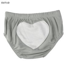 OUTAD Kids Short Unisex Toddler Ruffle Frilly Pants Pure Cotton Nappy Love Heart Pattern Triangle Kids Underpants For 0-2T Hot(China)