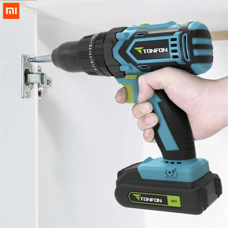 Xiaomi Cordless-Drill Battery Impact-Power-Driver Electric Tonfon Home-Work for 2000mah title=