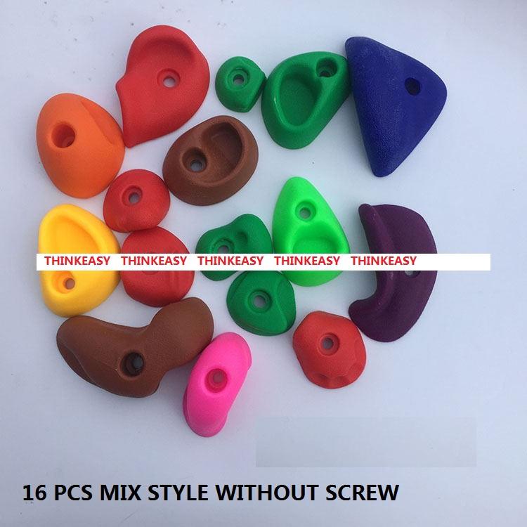 HTB1b55ORXXXXXXFaFXXq6xXFXXXK - 16 to 32 PCS / SET Plastic children Rock Climbing Wall Rock Stones Kids Toys Sports tool outdoor game kindergarten Without scre