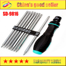 Free Shipping Brand Proskit SD-9816 16-In-1 Reversible Ratchet Precision Screwdriver Set