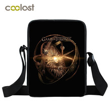 Game of Throne Women Messenger Bag Crossbody Boys Girls Winter is Coming Kids School Bags Portable Children Handbags for Girls