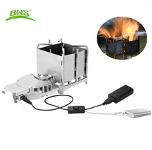 New Arrival Brs-116 Outdoor Camping Picnic Wood-burning Stove Foldable Portable Firewood Furnace Bbq Barbecue Grill