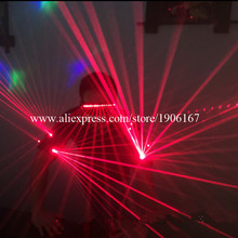 New Design Red Laser Man Luminous Laser Show Dance Costume Laser Armband Glasses Clothes Laserman Laser Suits Party Costumes