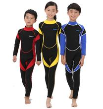 2.5MM Neoprene Wetsuits Kids Swimwears Diving Suits Long Sleeves Boys Girls Surfing Children Rash Guards Snorkel One Pieces DCO