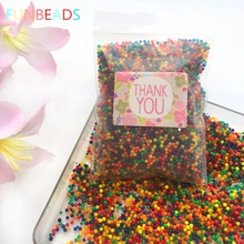 10000pcs/bag Crystal Soil Hydrogel Gel Polymer Water Beads Flower/Wedding/Decoration Maison Growing Water Balls(China)