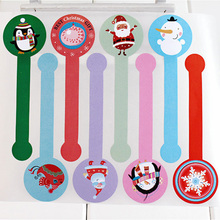 Clearance 80pcs Lollipop Design MerryChristmas Adhesive Sticker For Tins Boxes Bags DIY Packaging Label Sealing Party Decoration