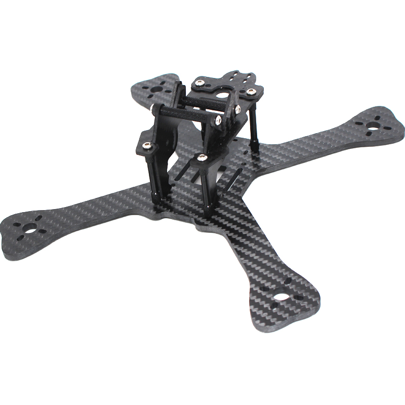 FPV Drone 5 Inch 210MM Carbon Fiber X Quadcopter Frame Kit Camera Mount For QAV-X CHARPU GEPRC GEP-TX 5 Chimp FPV Racing Quad<br>