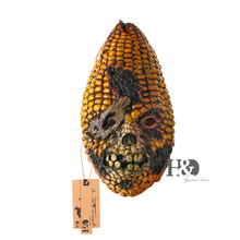 15''Full Face Scary Burn Corn Mask for Cosplay Latex Mask Horror Masquerade Adult Ghost Halloween Theater Props Party XMAS Decor(China)