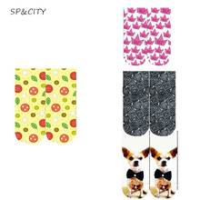 Casual Ankle Cute Pug 3D Socks Harajuku Crown Dog Tomato Patterned Art Socks Women Fashion Cotton Short Cartoon Socks Female(China)