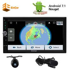 Eincar Android 7.1 Car Radio 2 Din Stereo in Dash GPS Sat Nav Head Unit Support External Microphone Wifi Bluetooth/RDS/SD/USB(China)
