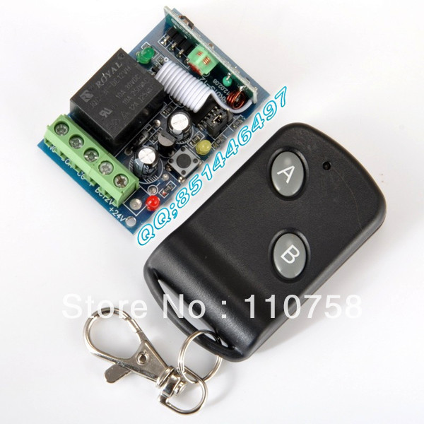 Free shipping 12V1ch rf Wireless Remote Control switch System Receiver Transmitter &amp; receivers z-wave toggle momentary switch<br><br>Aliexpress