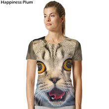 Buy Space T shirt Galaxy Cat T- Shirt Women T-shirt Funny 3d Print Summer top Tees Anima Tshirts Womens Clothing 2018 for $4.95 in AliExpress store