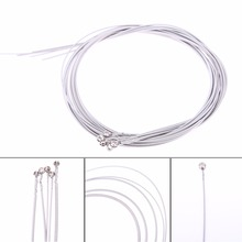2017 new 1 Set of 5 pcs Steel Strings for 5 String Bass Guitar Silver Free Shipping FE5#