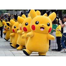 2017 Top Grade Deluxe Pikachu Mascot Costume Cartoon Character Costumes Mascot Costume Fancy Dress Party Suit