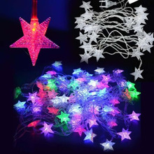 28LED Pentagram String Fairy Light Christmas Wedding Party Decoration Xmas tree lights holiday led fairy lights fixtures A609(China)