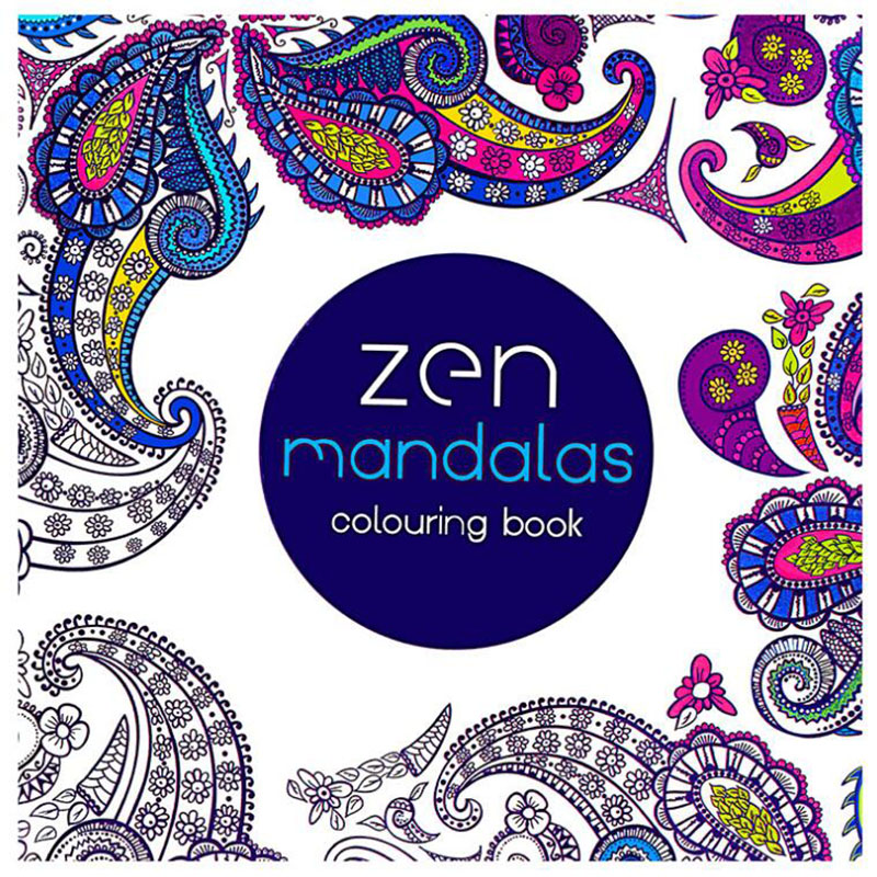 Children'S Stationery 24 Page Mandala Painting Adult Decompression Art Hand-Painted Doodle Books School Office Supplies 1pc(China)