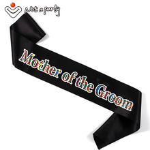 Mother of the groom sash 50% off for 3pcs team bride to be supplies hen bachelorette bridesmaid gift wedding event fun favor