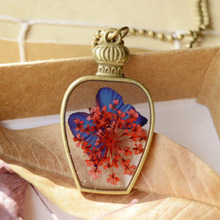 New Fashion Pendant Necklaces For Girl Antique Flower Vase Shape Christmas Gift Jewelries Neck Accessories Free Shipping