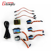Gleagle Electric Parts 5 Servos + 1 Gyro for 480N Fuel Helicopter(China)