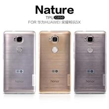 Huawei Honor 5X Case Cover Nillkin Nature Series Soft Back Cover TPU Case For Huawei Honor 5X With packaging(China)