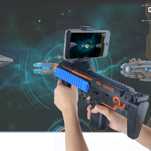 2017 Newest AR Game Gun Plastic Material Virtual Reality Toys Compatible With IOS And Android Phone Holder Gift with a box Free