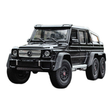G63 AMG Pickup Truck Metal 1:24 Model Car Zinc Alloy Luxury SUV Vehicle Model Toy Open Door for Adult Child Collection Gift(China)