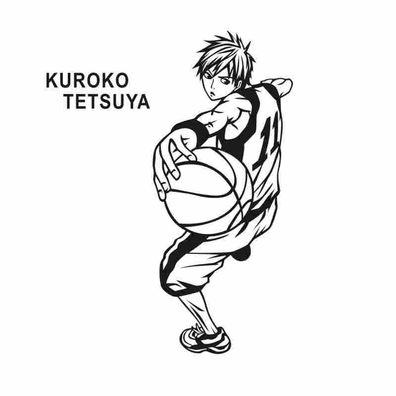 Pegatina Kuroko no Basket Sticker Anime Cartoon Tetsyta Car Decal Sticker Vinyl Wall Stickers Decor Home Decoration