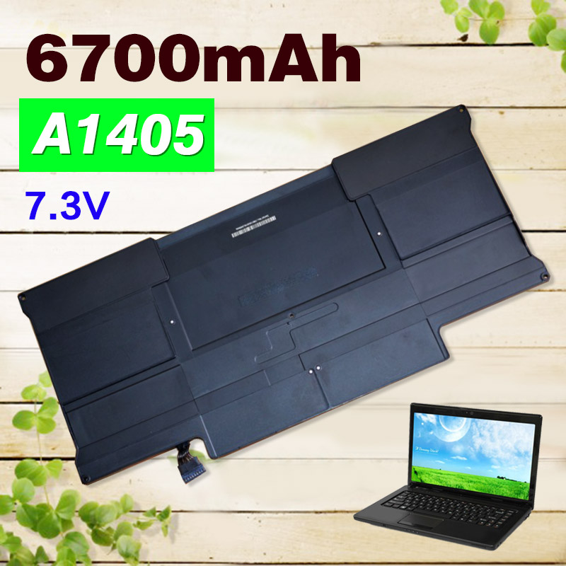 Original 7.3V 6700mAh A1405 Laptop Battery For Apple MacBook Air 13 A1369 A1405  MC503 MC504<br>