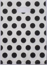 100pcs/bag 25*35cm White black spots pattern Plastic Jewelry Gift bag Beautiful Plastic Shopping Bags Recyclable 2535