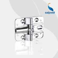 SP056  Shining Finished Zinc Alloy Flush hinge Rotary Angle of 180  / 3KN Industrial Hardware Cabient Hinges (10pcs/lot)