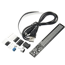 Hot Sale 1PC 5V DIY Electronic LED Spectrum Display Training Kit Voice Control Module Board(China)