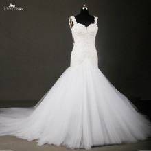 Buy RSW712 Sexy Backless Ivory Lace Mermaid Wedding Dresses Spaghetti Strap Real Tulle Dress Bride Gown Robe de casamento 2016 for $300.00 in AliExpress store