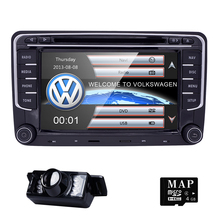 VW Volkswagen LCD DVD GPS Navigator Car Dash Radio Audio Player+Map Card for JETTA GOLF Radio SWC FM map Steering Wheel control