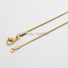 Free Shipping !60cm gold snake chain stainless steel chain floating locket chain necklace chain(China)