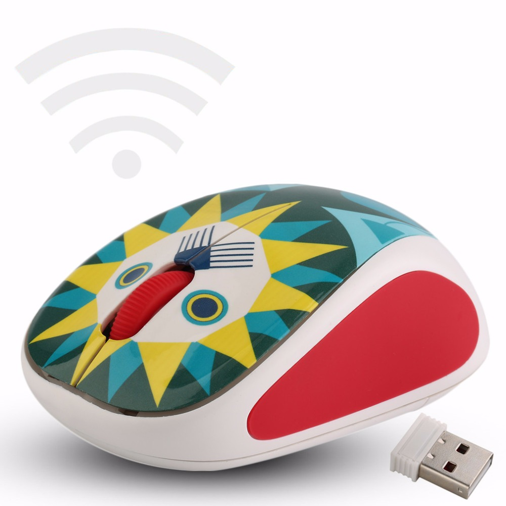 NEW Creative Style Wireless 3D Doll Pattern Small and portable Mouse Mice 4 Pattern Optional<br><br>Aliexpress