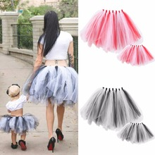 2Pc/set Mom and Baby Tutu Skirt Dress Mother Daughter Princess Dresse Family Matching Clothes Baby Girls Mommy Skirt Photo props
