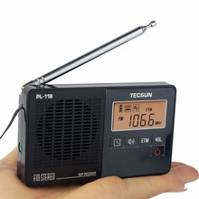 2 Color TECSUN PL-118 Radio DSP FM Radio Stereo Portable Radio Receiver ETM Clock Alarm Y4142A(China)