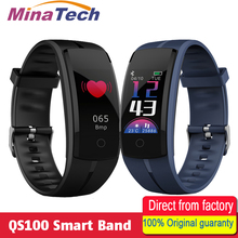 Buy QS100 Smart Band Heart Rate Monitor Fitness Tracker Blood Pressure Sport IP67 Waterproof Bracelet Android IOS PK QS90 Wrist for $19.90 in AliExpress store